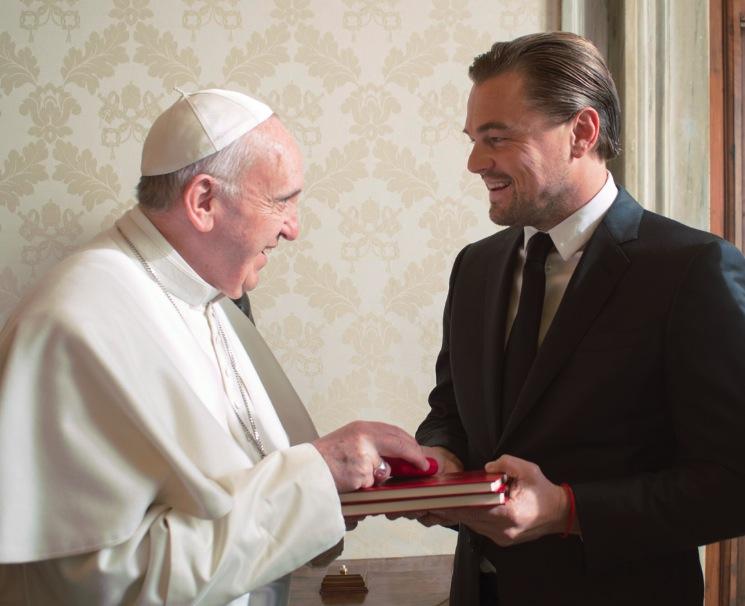 El Papa Francisco con Leonardo di Caprio