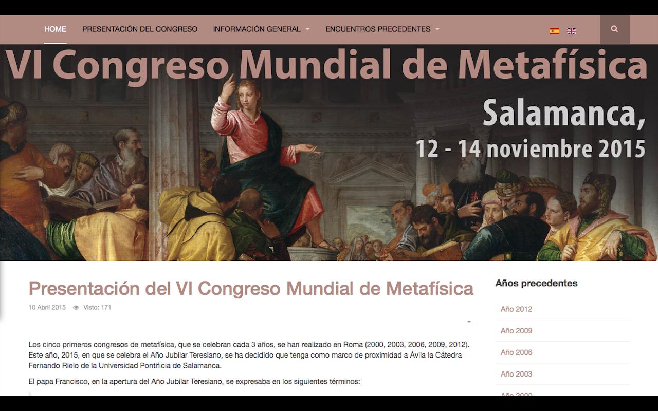 Sexto congreso mundial de metafísica