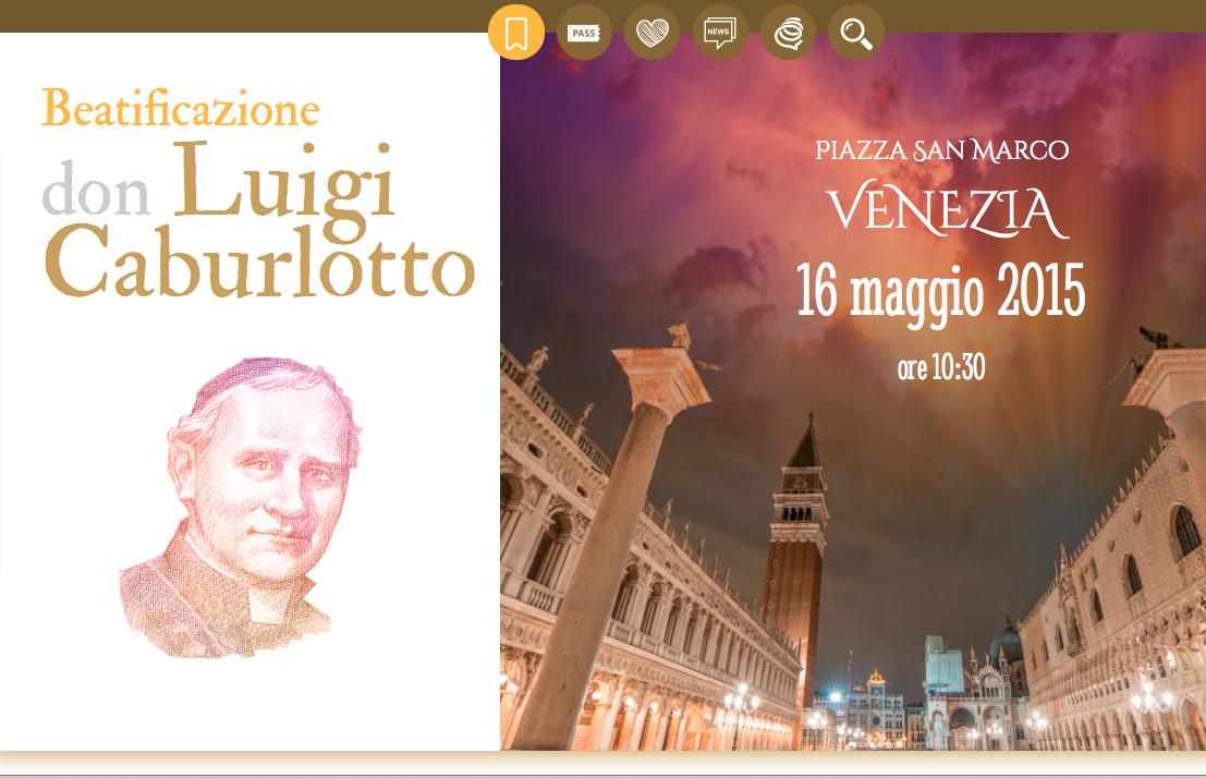 Beatification  of Luigi Carburlotto in Venice