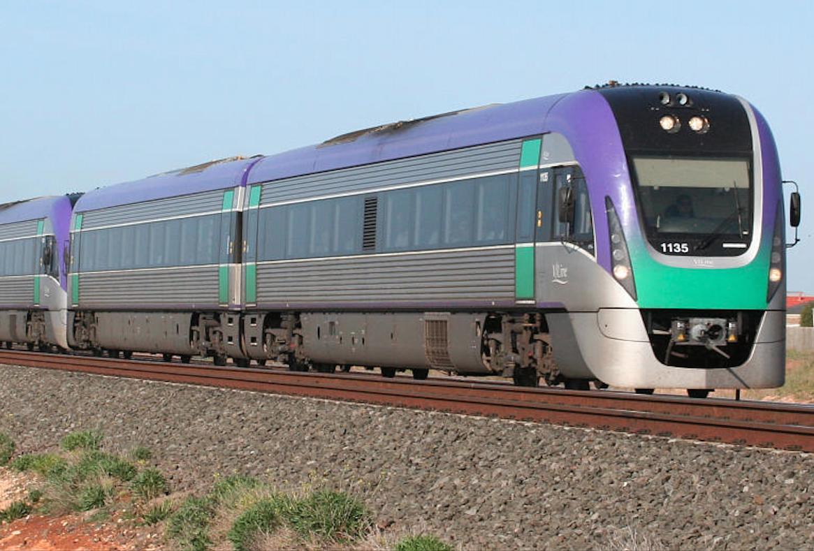 V/Line VLocity train at Lara Victoria Australia