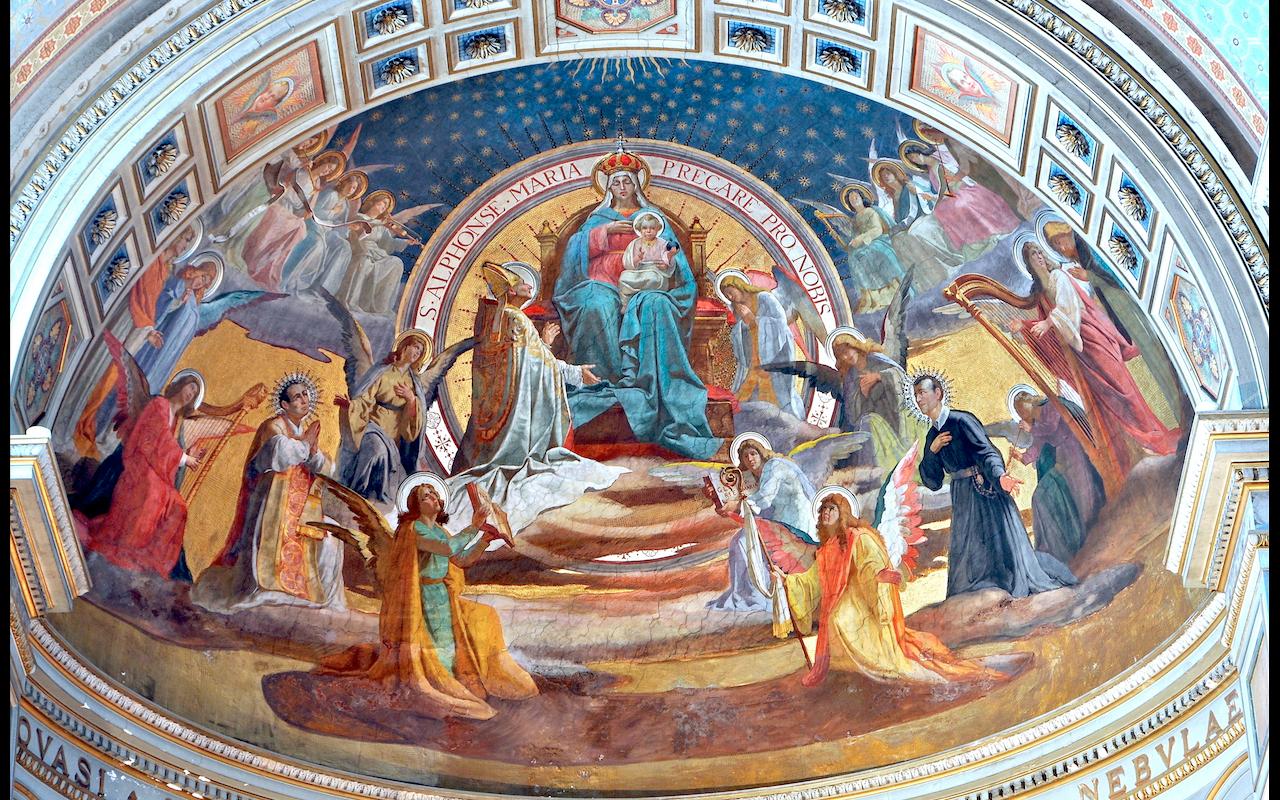 Saints in the paradise - Saint Alfonso Maria di Liguorio - Church San Gioacchino in Prati