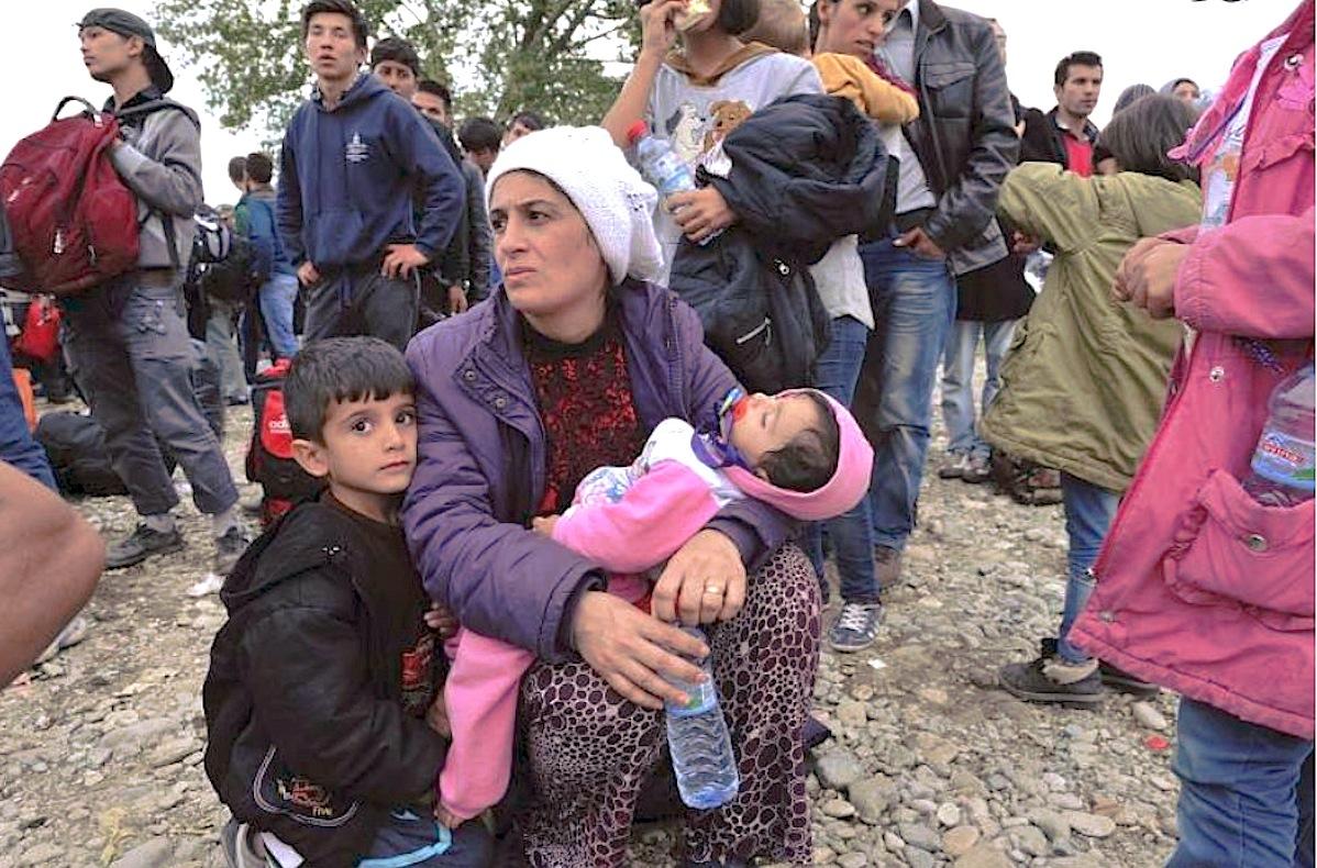 Refugee at Greece in the reception center of Vinojug en Gevgelija.
