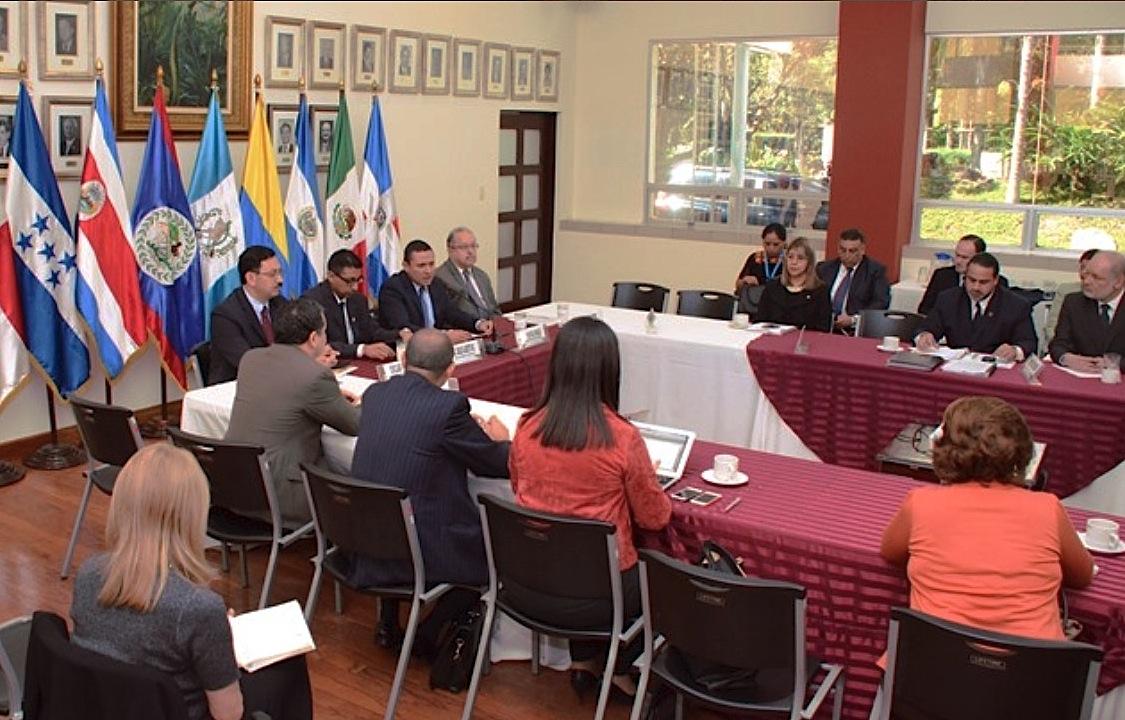 Cumbre SICA at Guatemala city