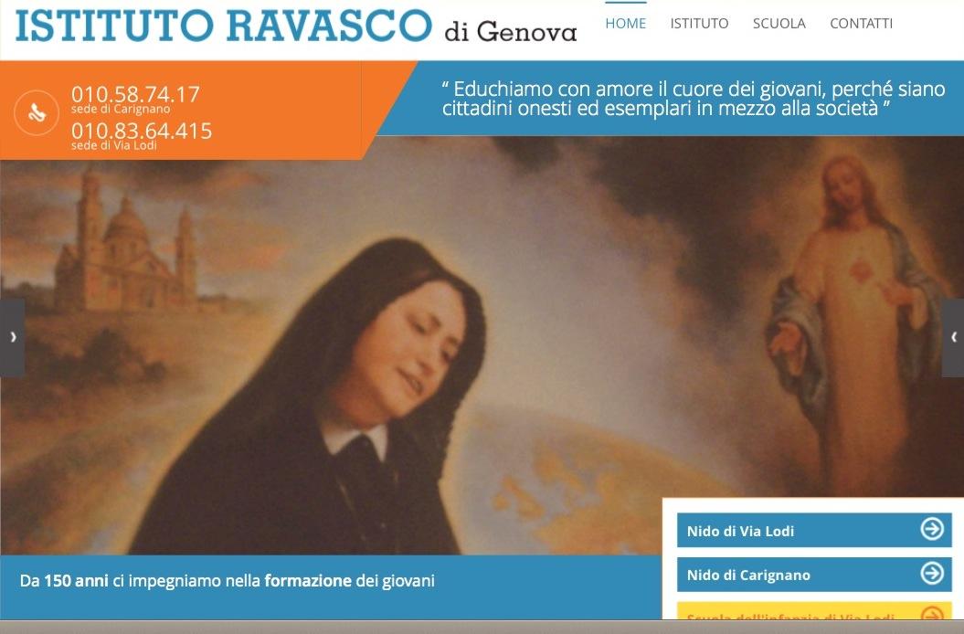 Instituo Ravasco en Genova web