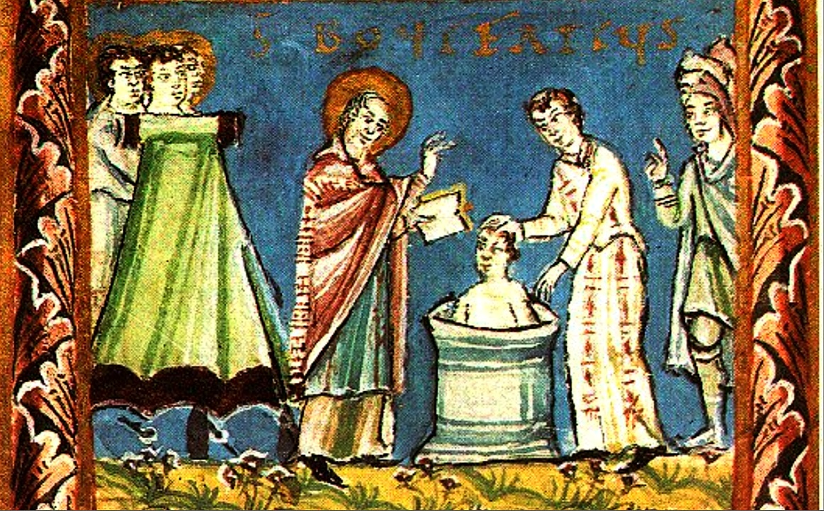 St. Boniface Baptising and Martyrdom in 754