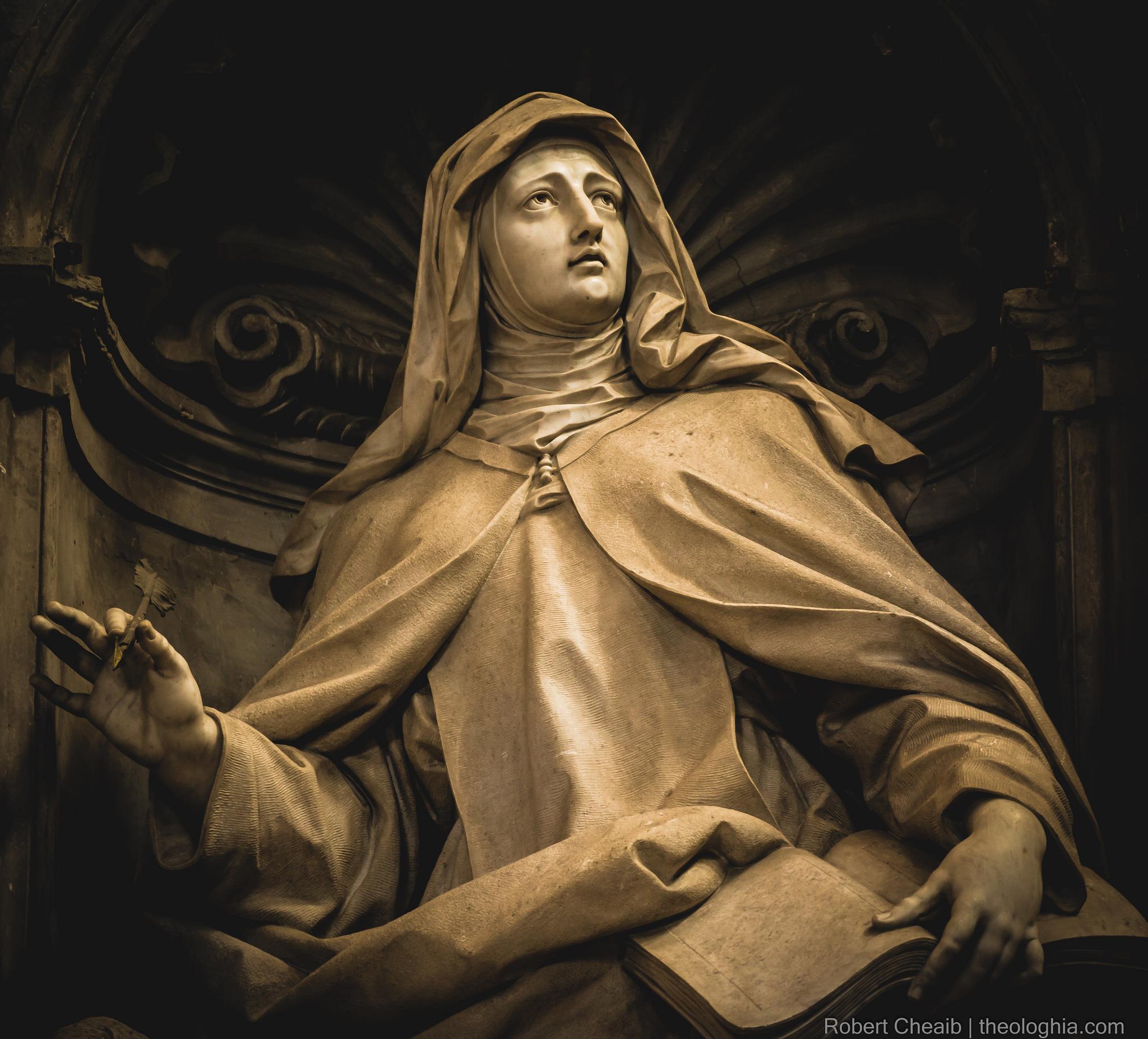 Saint Teresa de Jesus / of Avila - Statue from the Basilica of Saint Peter's in the Vatican