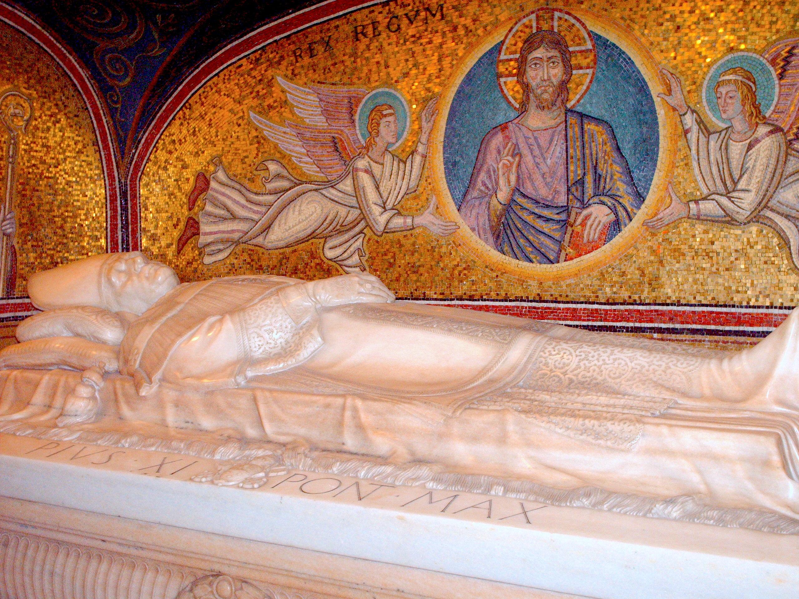 Vatican Grottoes - Tomb of Pio XI