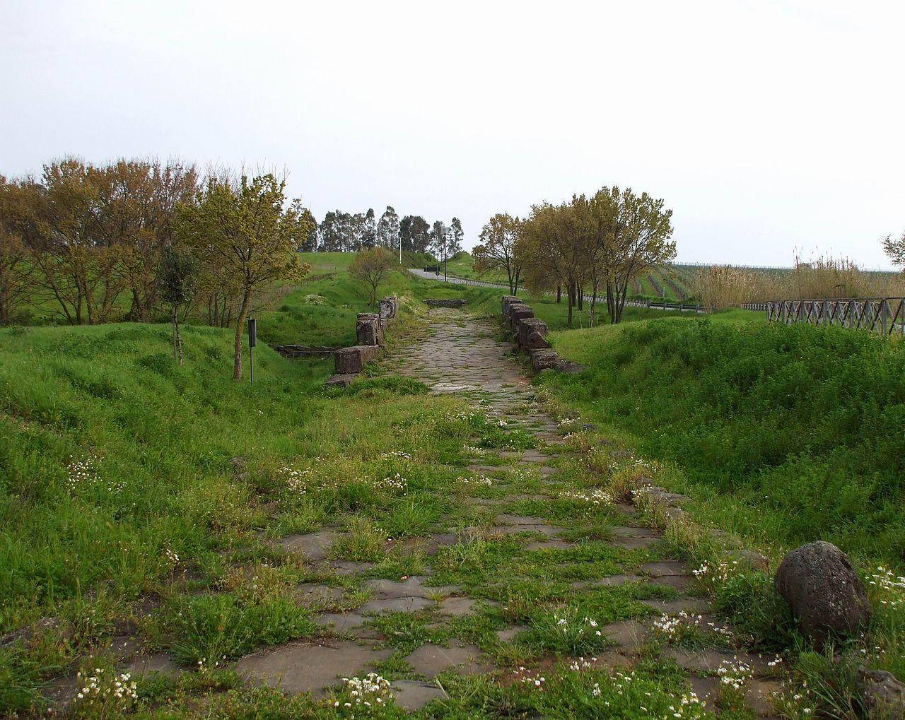 Ancient Roman Way near Lanuvio