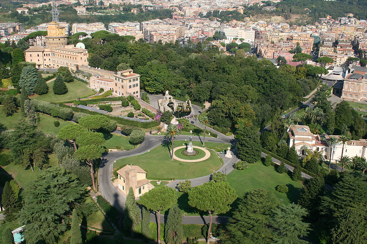 The gardens and the radio station of the Vatican City