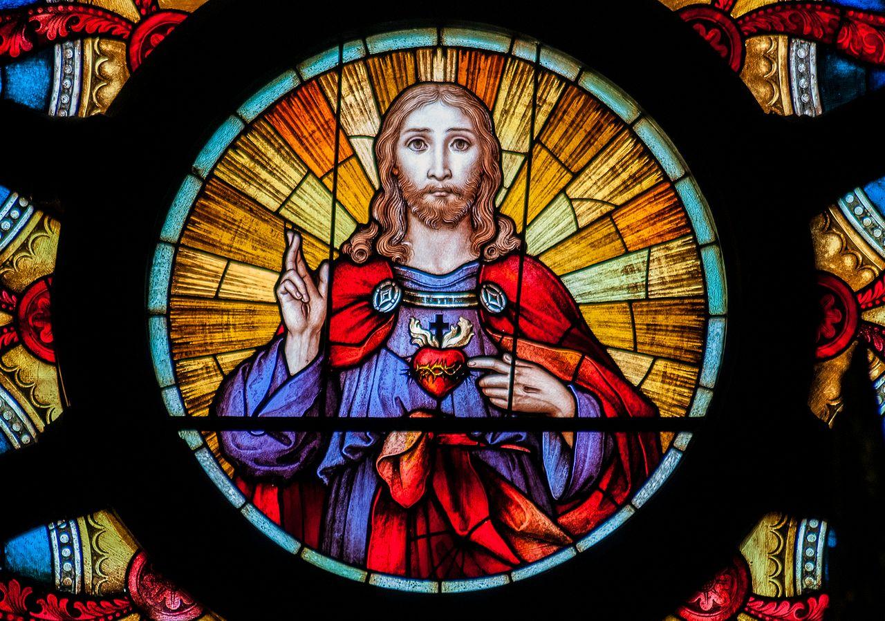 Vitral del Sagrado Corazón de Jesús