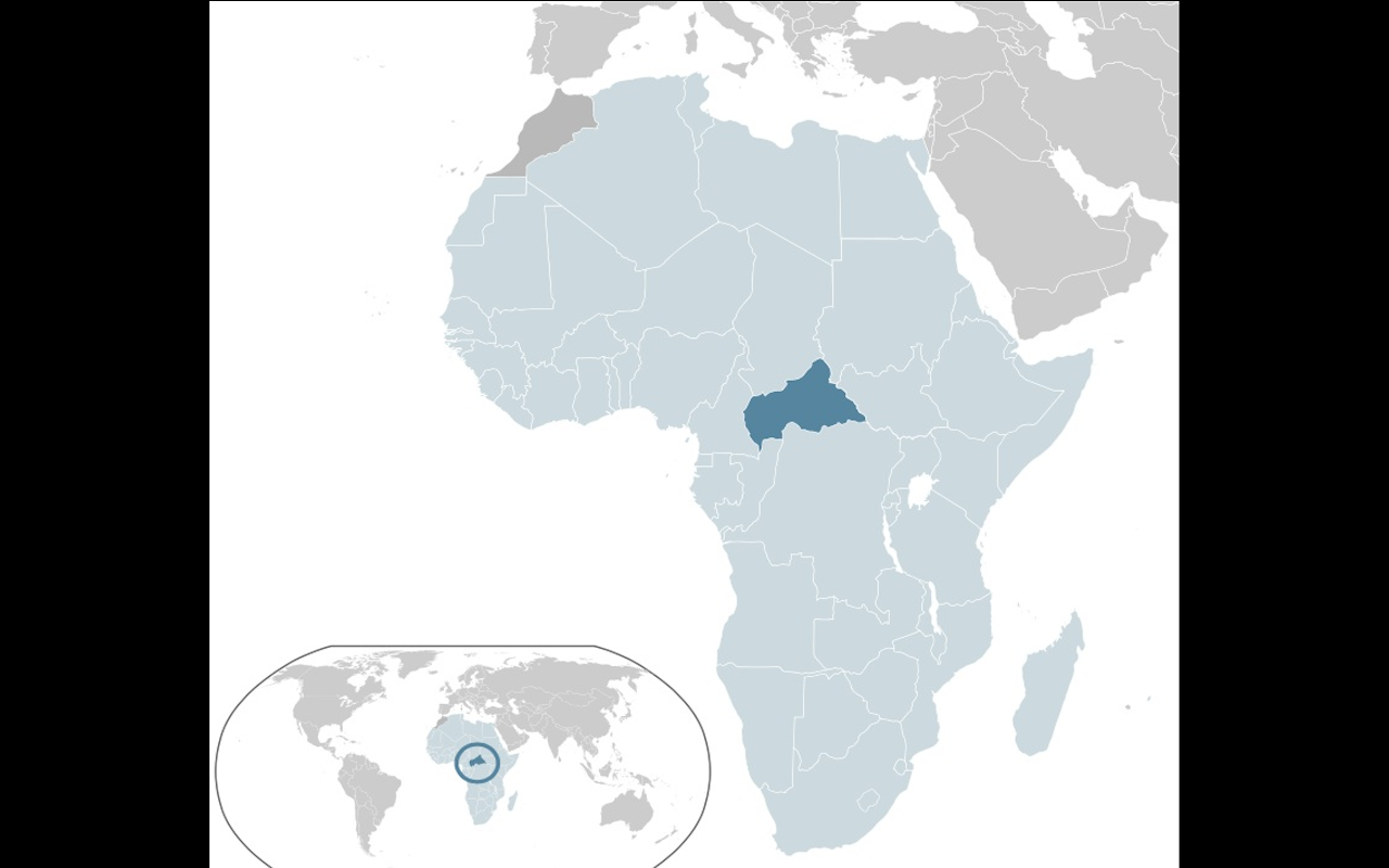 Map of Cental African Republic