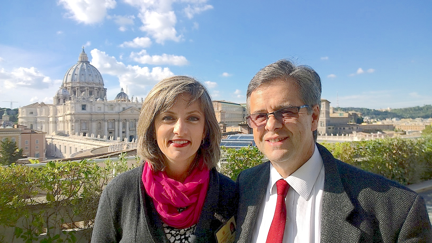 Auditors from Colombia at the Synod - María Angélica and Luis
