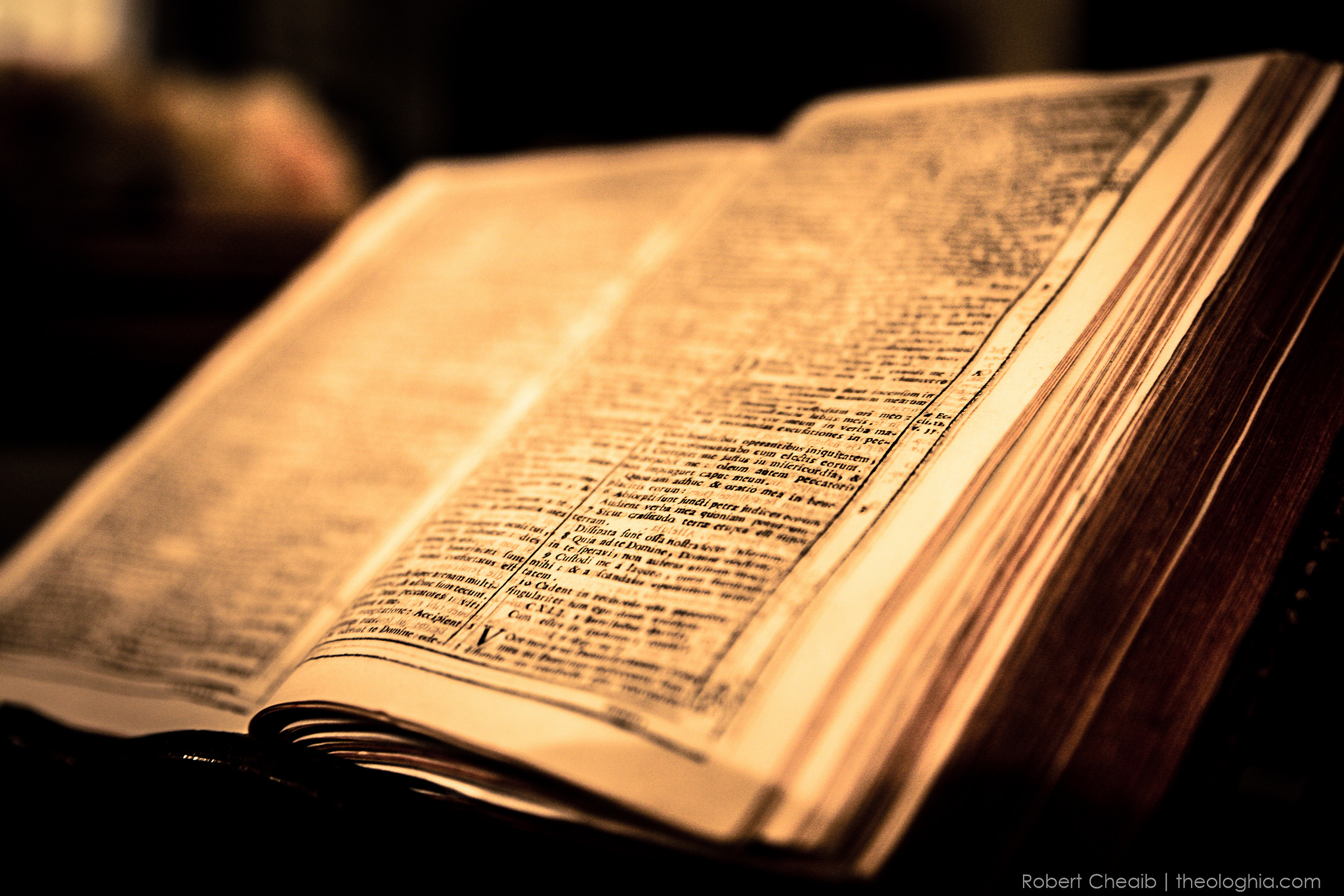 Old Latin Bible for daily meditation and prayer