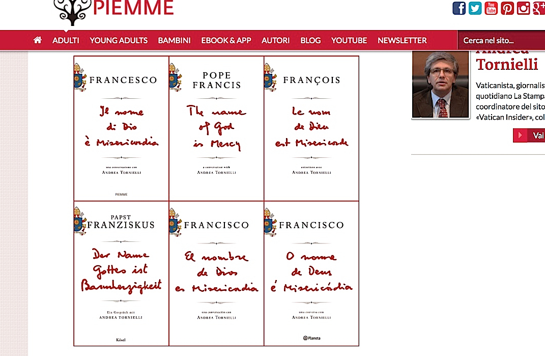 Pope Francis book The name of God is Mercy