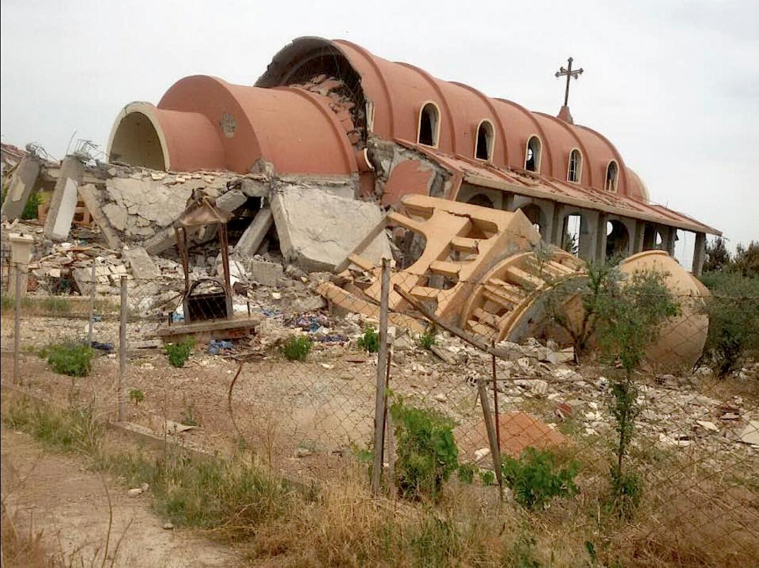 La Iglesia de María en Tal Nasri destruida por el ISIS