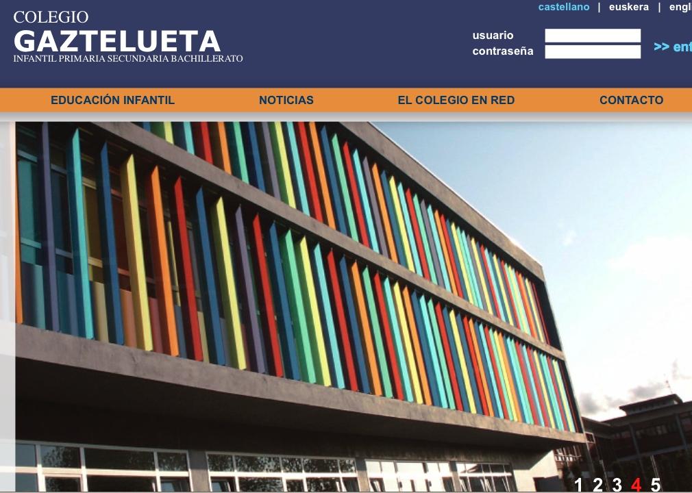 Web of Gaztelueta school