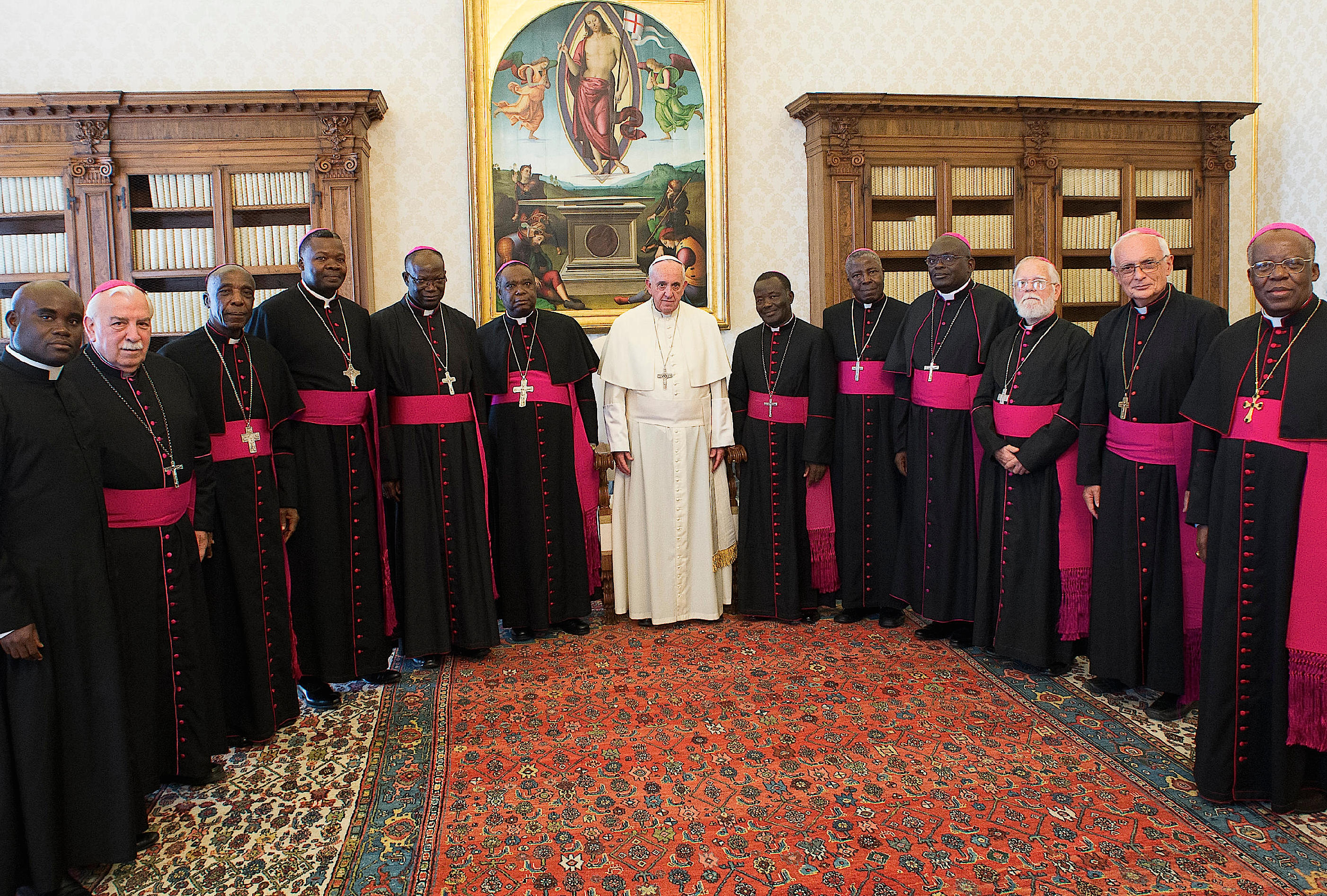 """Pope receives bishops of Congo on their """"ad limina"""" visit"""