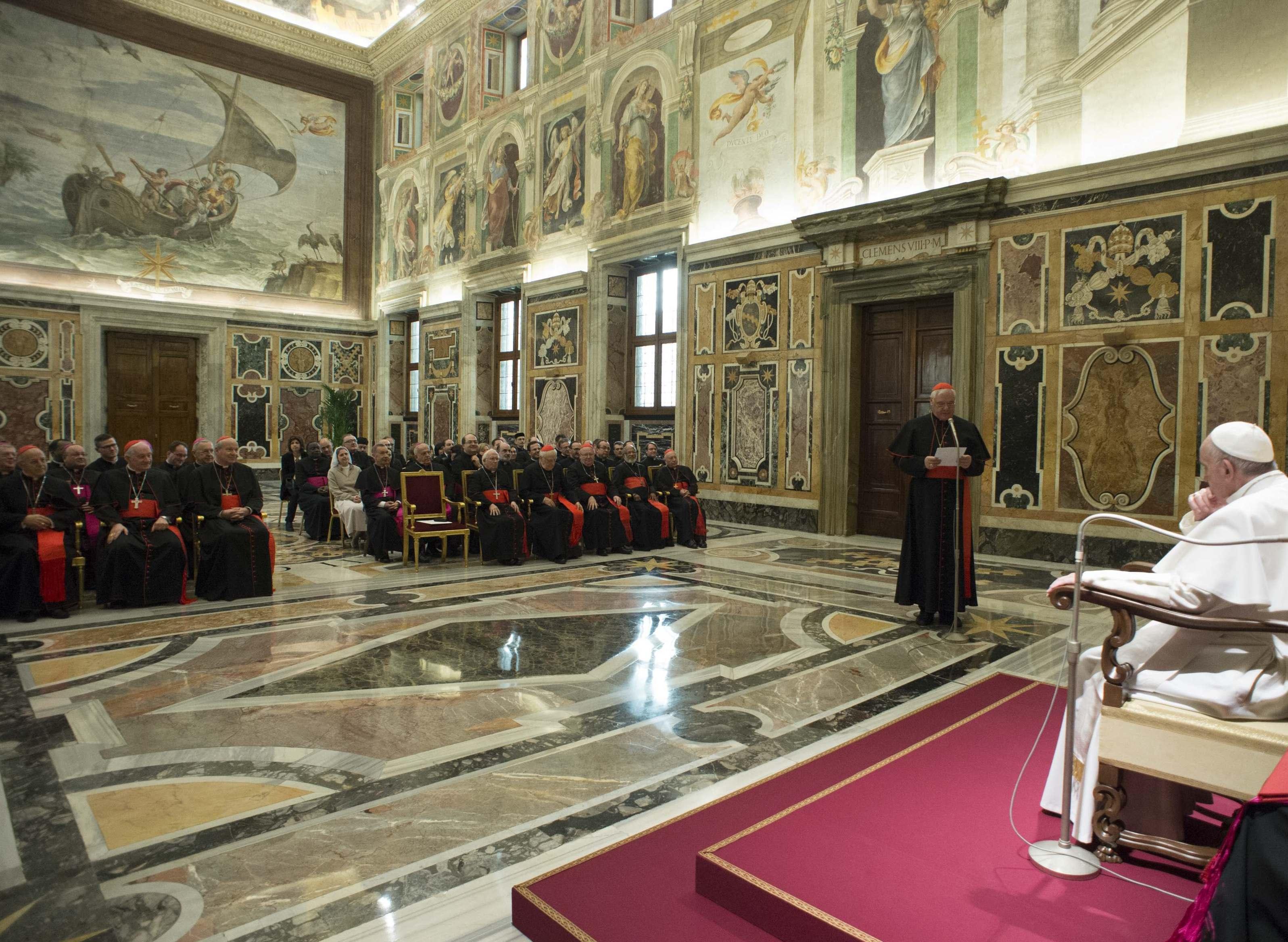 El Papa en la plenaria deEl Papa en la plenaria de la Congregación para la doctrina de la Fe. 29-01-2016 - L'Osservatore Romano la Congregación para la doctrina de la Fe