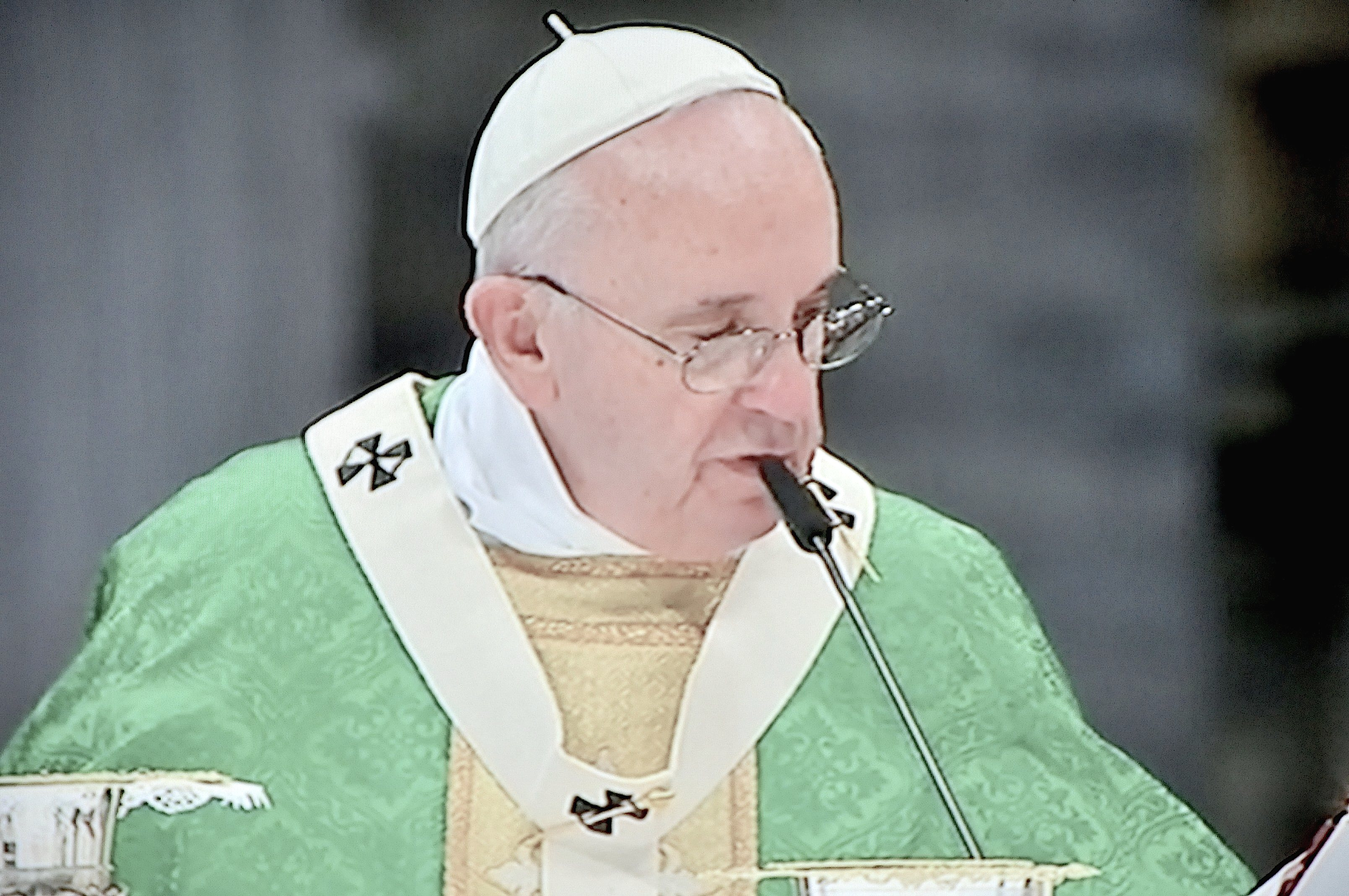 Pope Francis during the Mass for the Opening of the Synod of Bshops