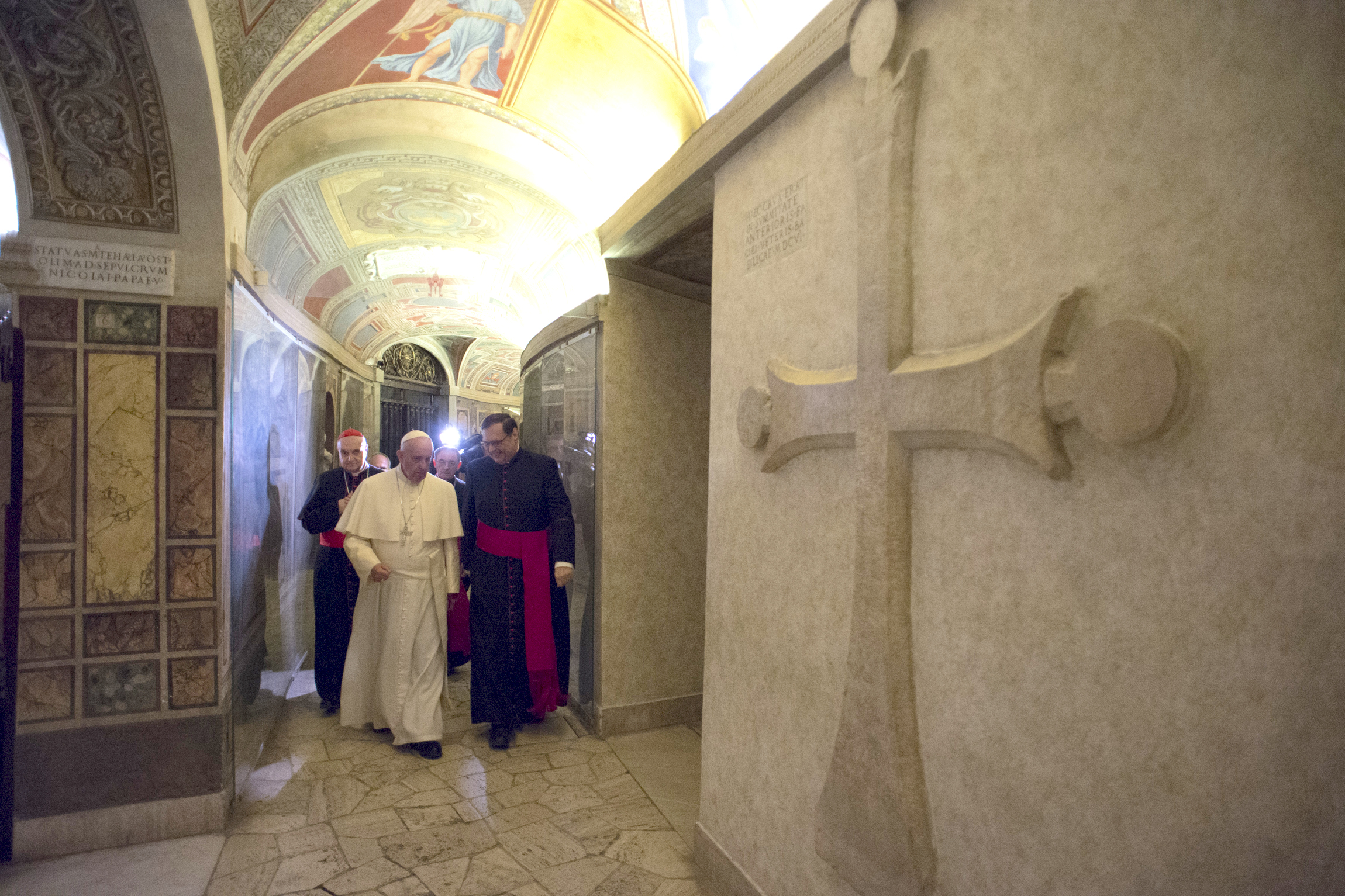 Pope Francis in the Vatican Grottoes  - 2 November 2015