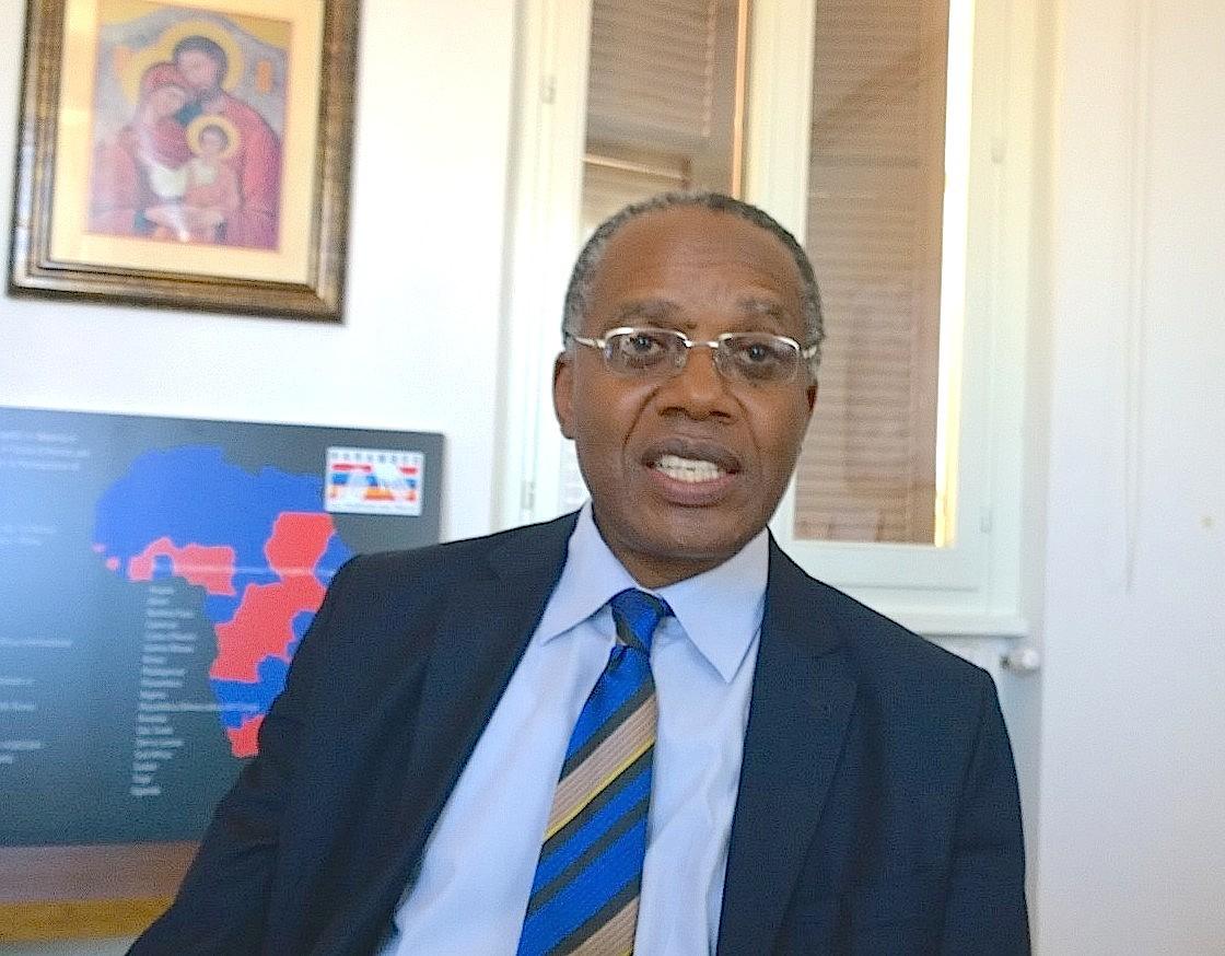 Leon Tsilolo chief of the Health Center Monkole in Kinshasa Congo RD