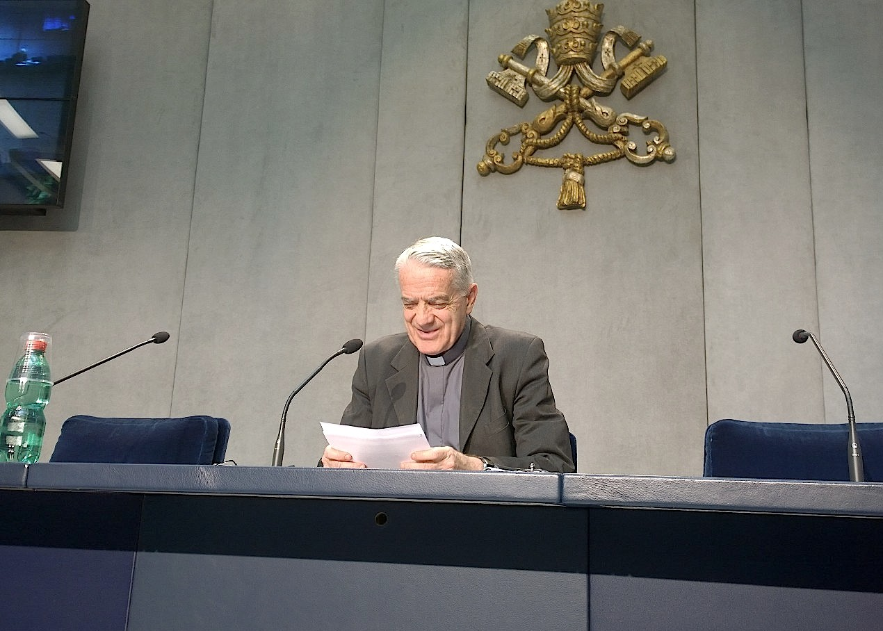 Father Federico Lombardi during the Briefing over the Meeting of the Council of Cardinals (C9)
