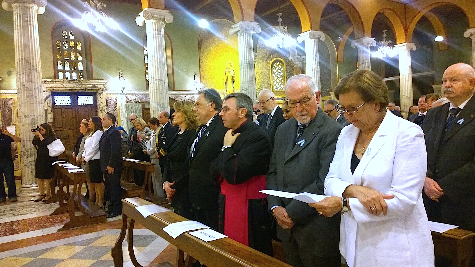Holy mass in the National church of Argentina in Rome