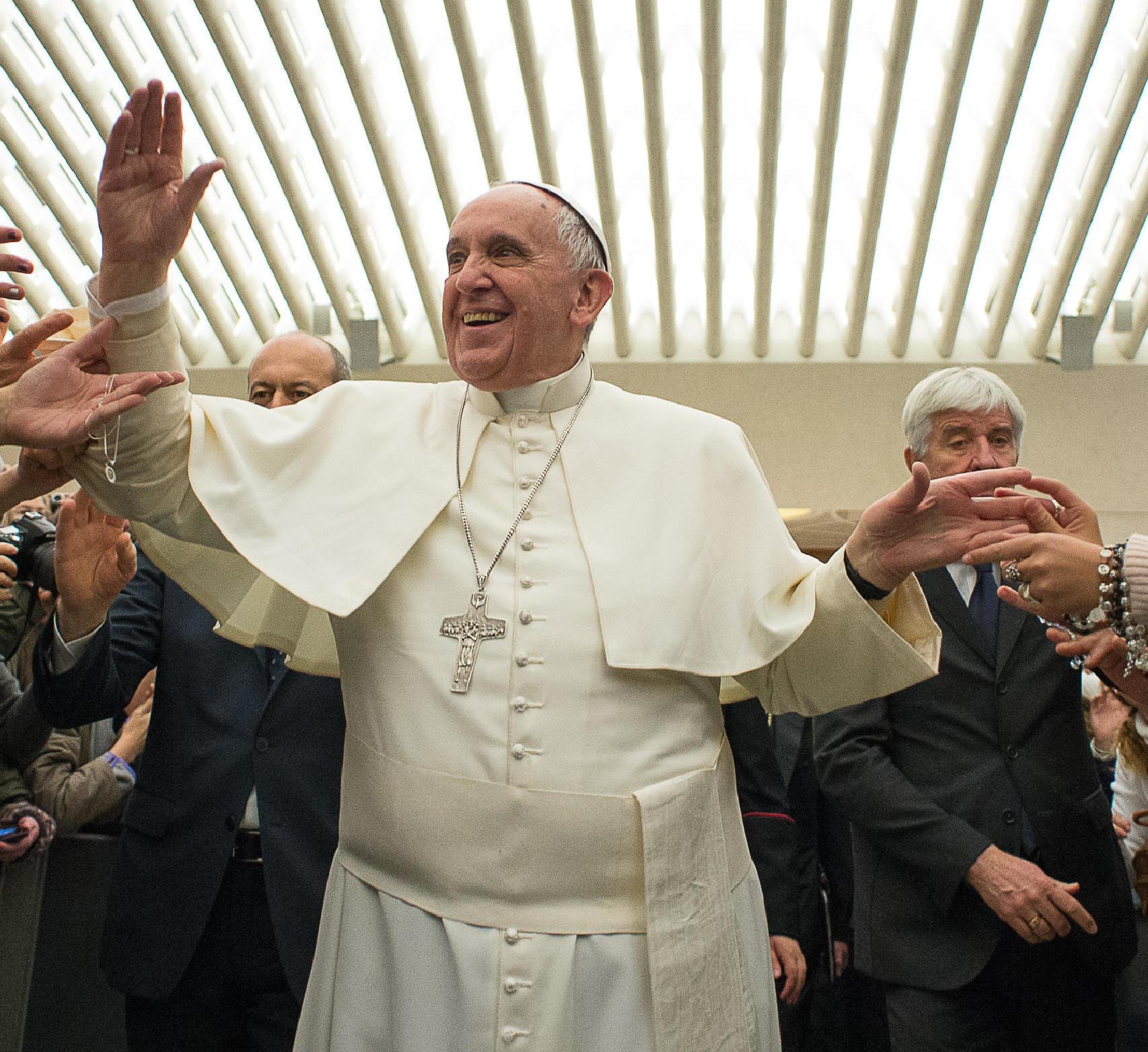 El papa en el Aula Pablo VI (Copyright Foto archivo Osservatore