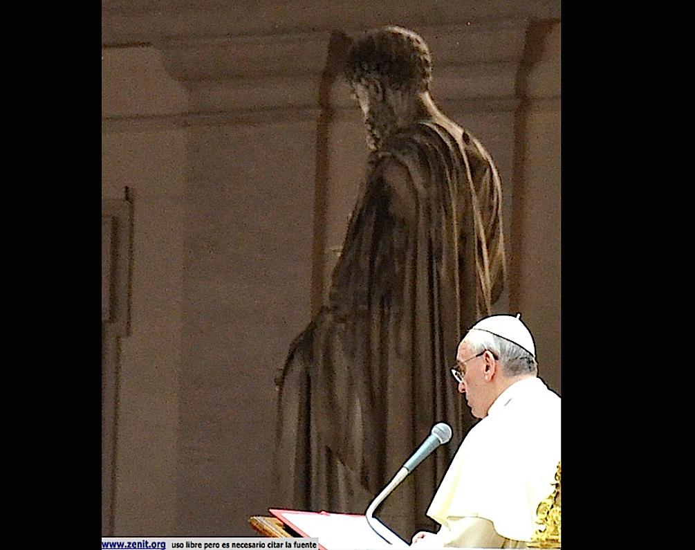 El papa Francisco en la vigila por la paz en Siria el 13 de septiembre de 2013 en la plaza de San Pedro (Foto © ZENIT cc).