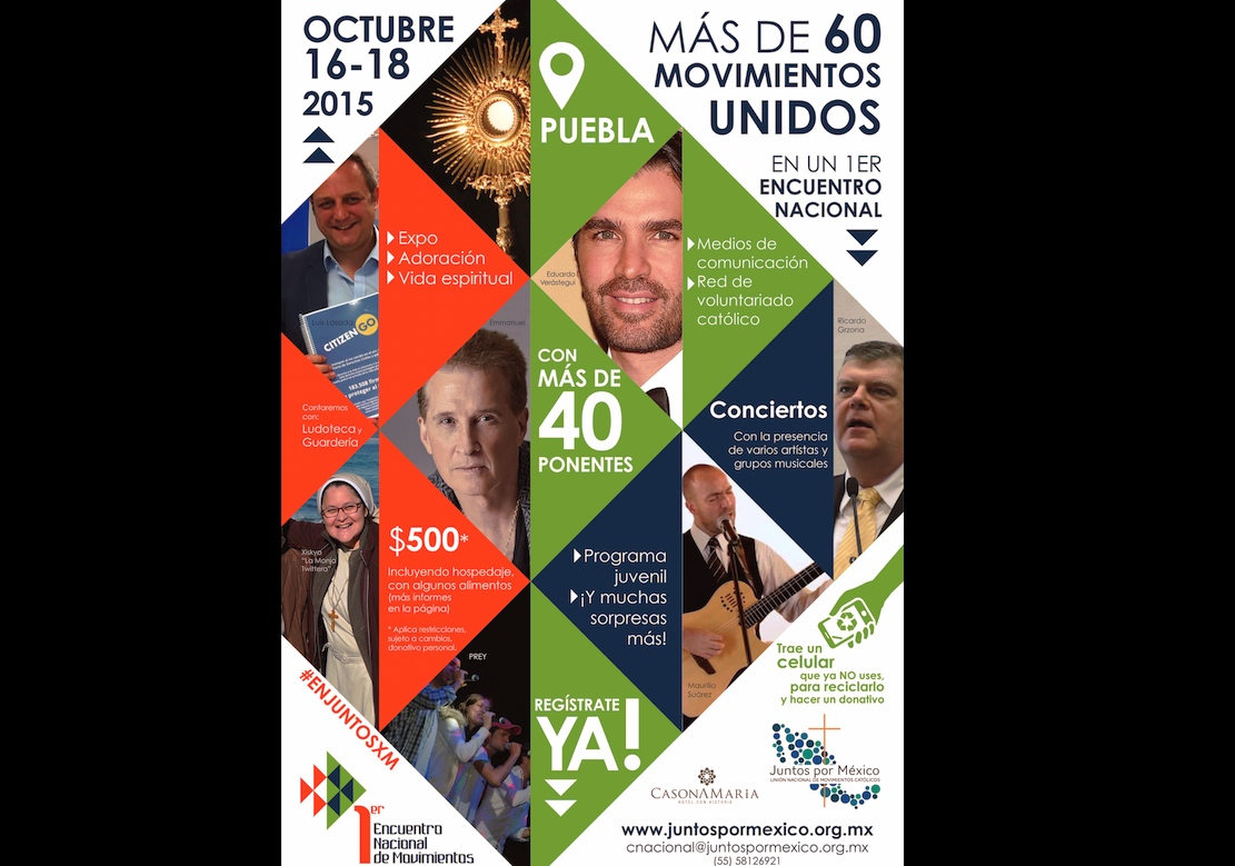 Poster of congress the catholics for Mexico