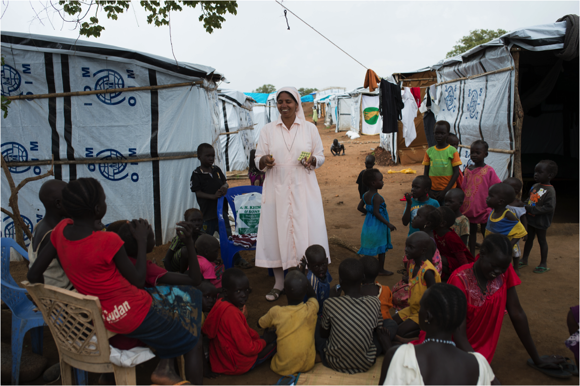 Working with children in South Sudan