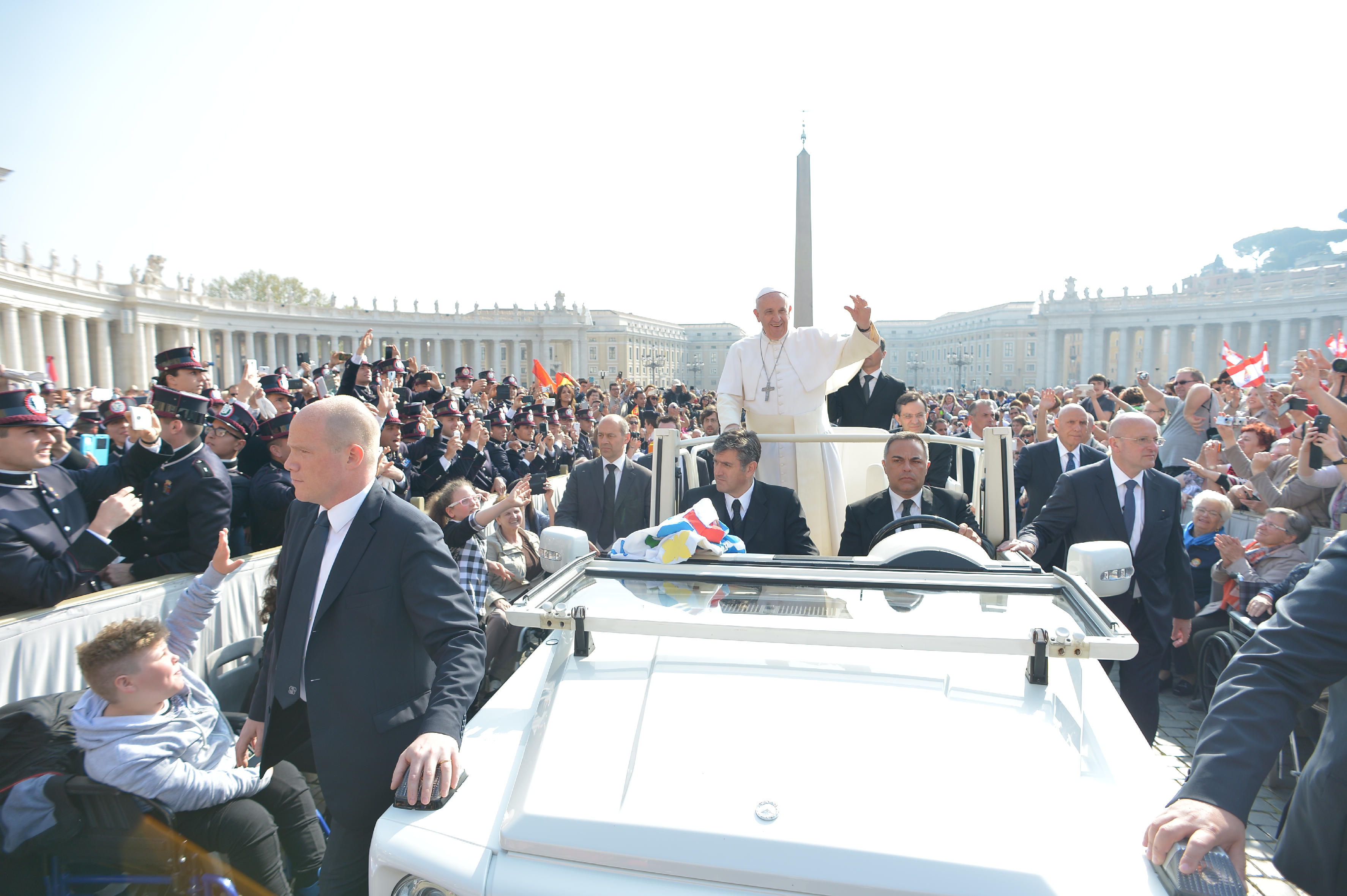 Pope Francis during the Wednesday General audience (Archive)
