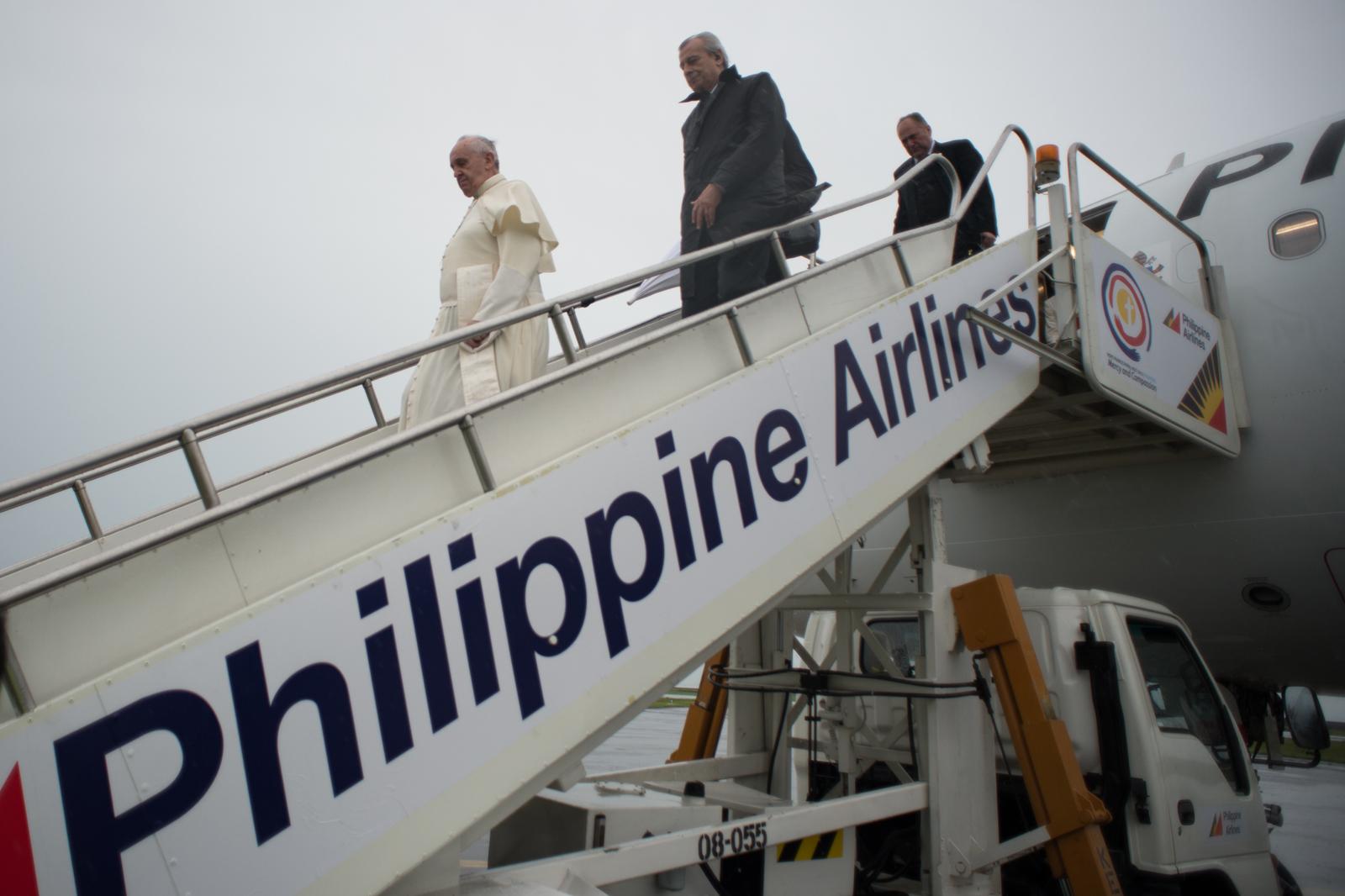 El Papa Francisco llega a las Filipinas (© Photo.va)