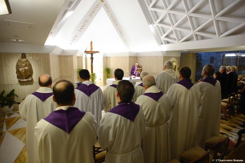 Misa en Santa Marta ( Fto. archivo © Osservatore Romano)