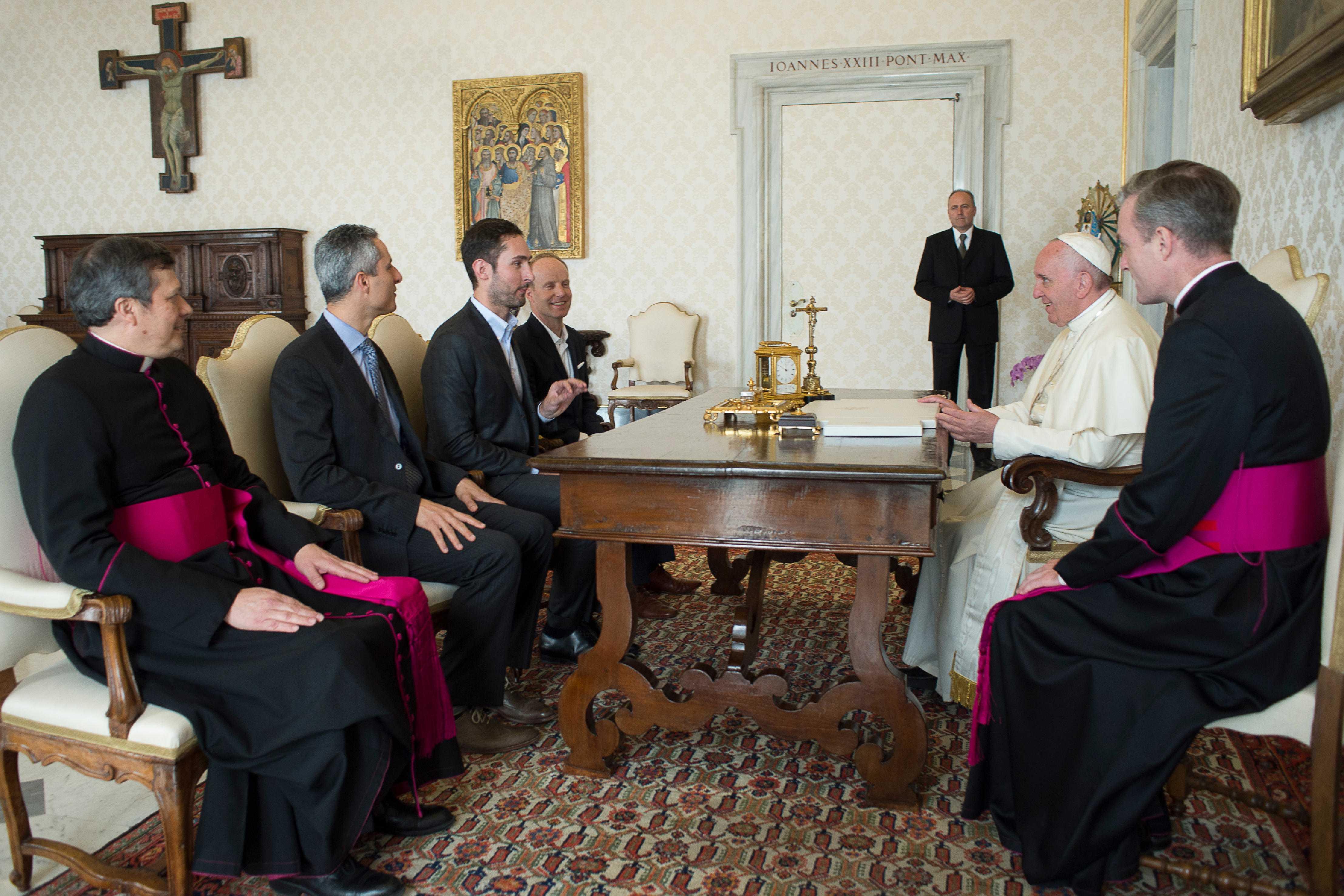 El Papa con Kevin Systrom