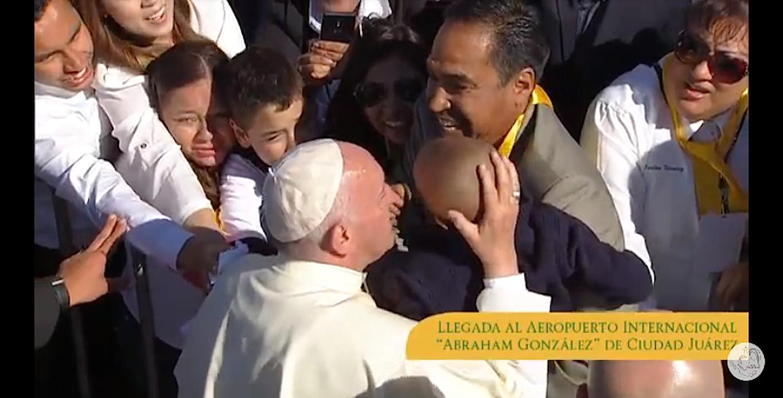 Llegada del Papa a Ciudad Juárez