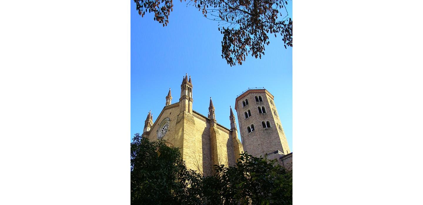 La iglesia de San Antonio en Piacenza