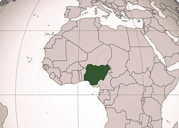 Mappa di Nigeria Wikicommons