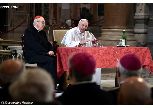 El Papa en San Juan de Letrán