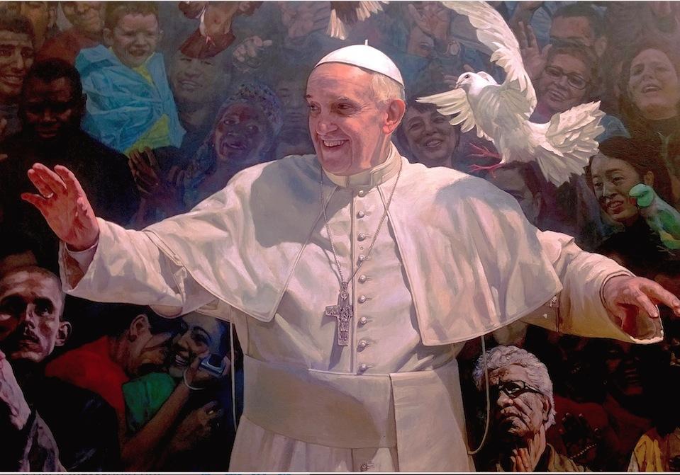El Papa Francisco - cuadro en la Pontificia Academia de las Ciencias