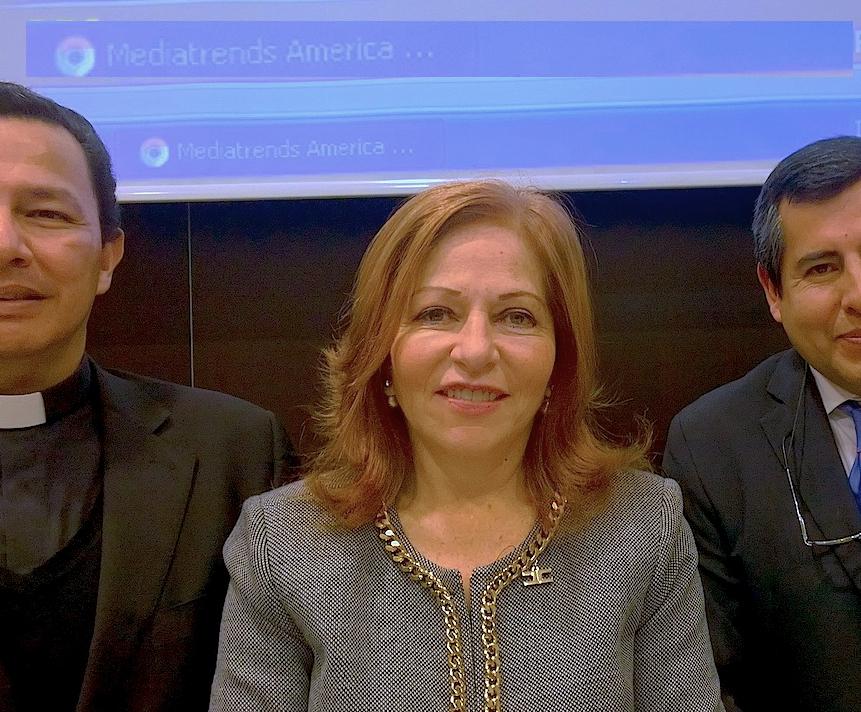 La periodista de Televisa, Valentina Alazraky