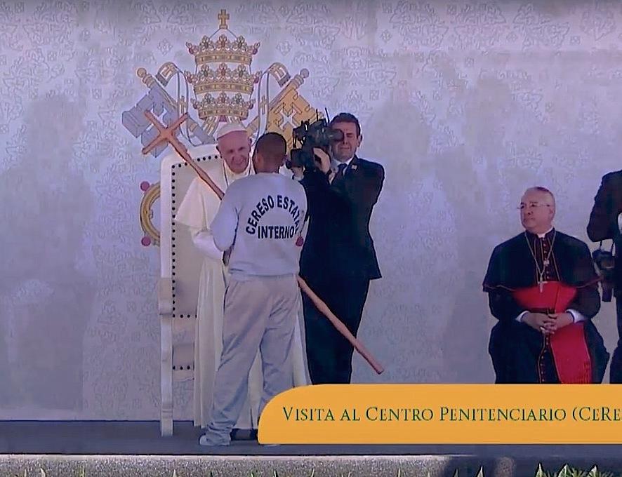 El Papa en la cárcel Cereso3
