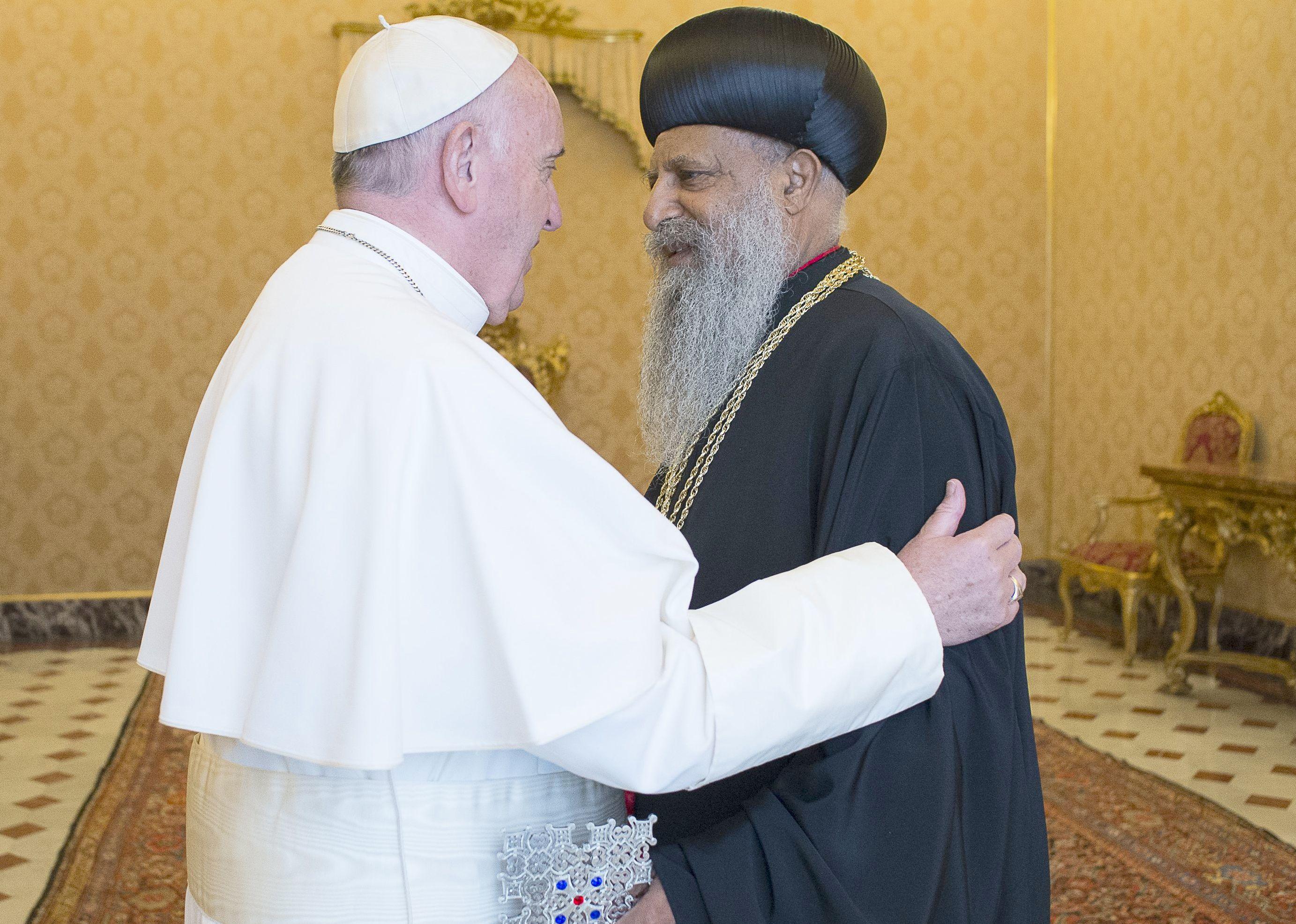 El Papa y el patriarca Abuna de Etiopia