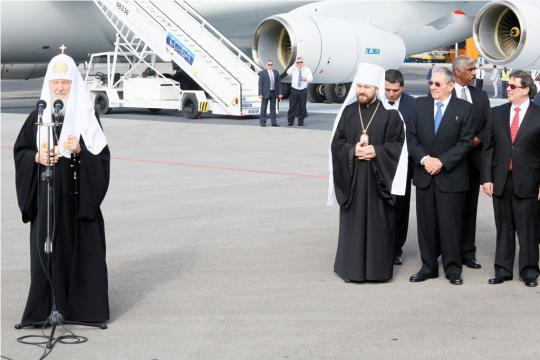 Llega a Cuba Su Santidad Kirill, Patriarca de Moscú y de Toda Rusia