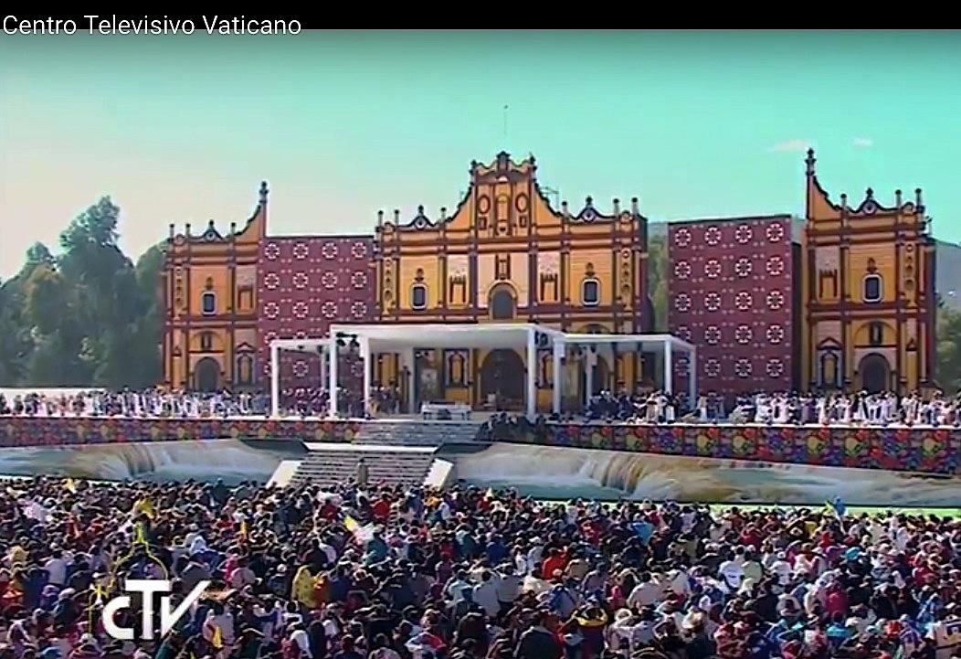 Misa del papa Francisco en Chiapas, en febrero de 2016