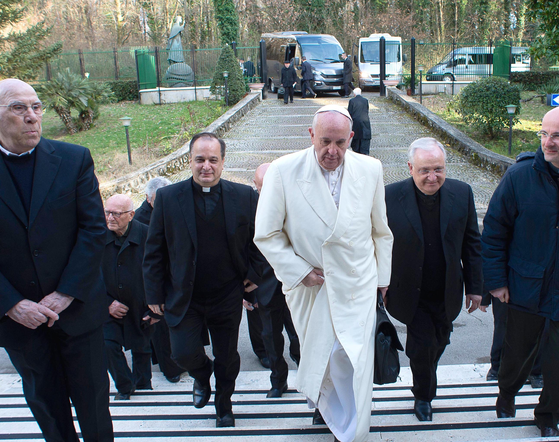 El Papa llega a Ariccia