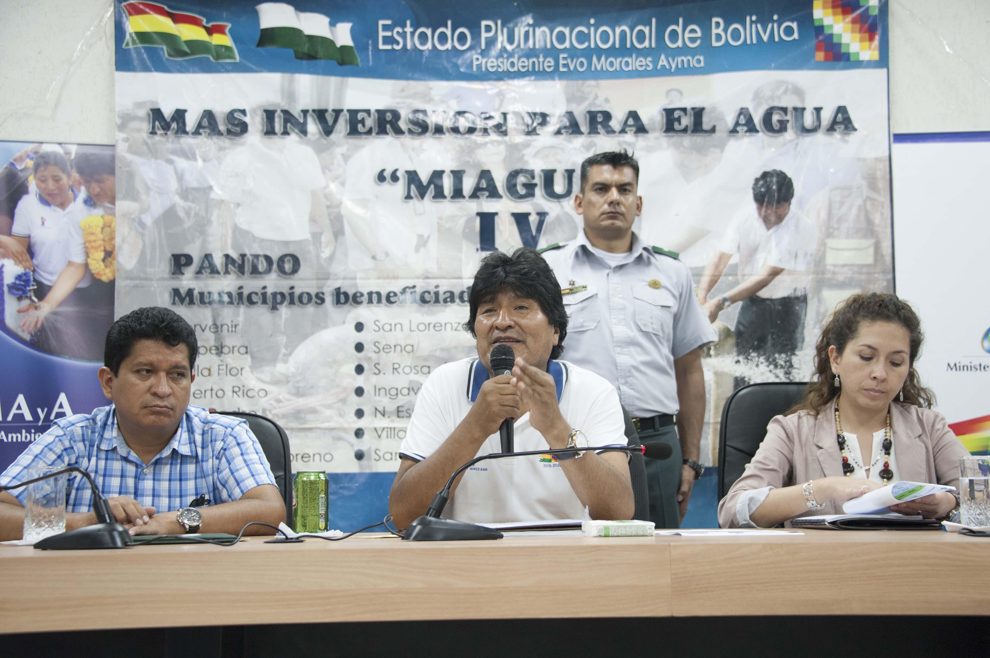 El presidente Morales