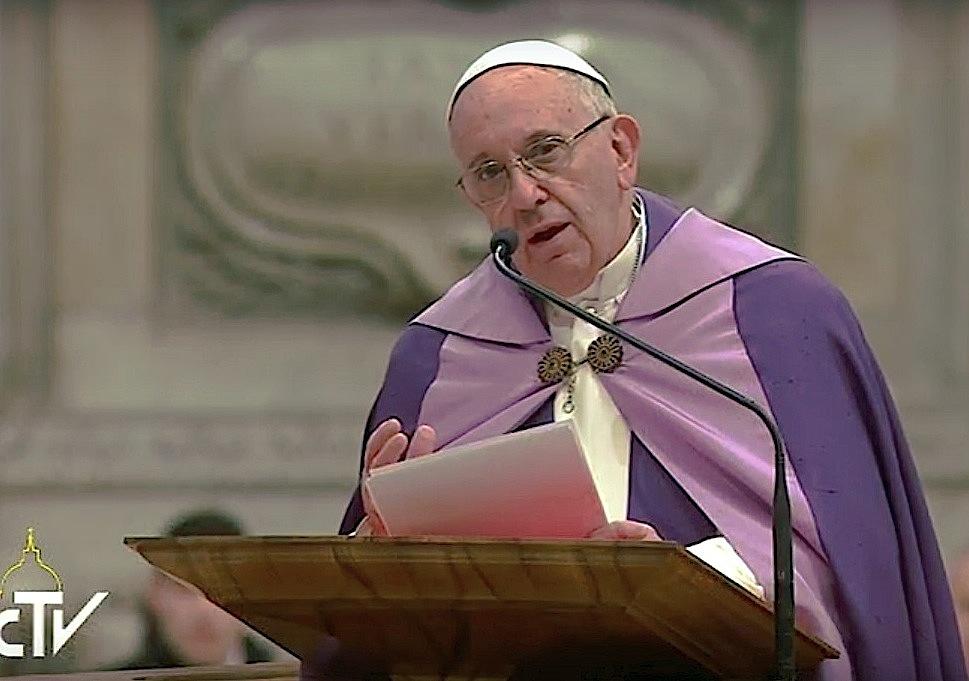 El papa Francisco en las 24 horas para el Señor