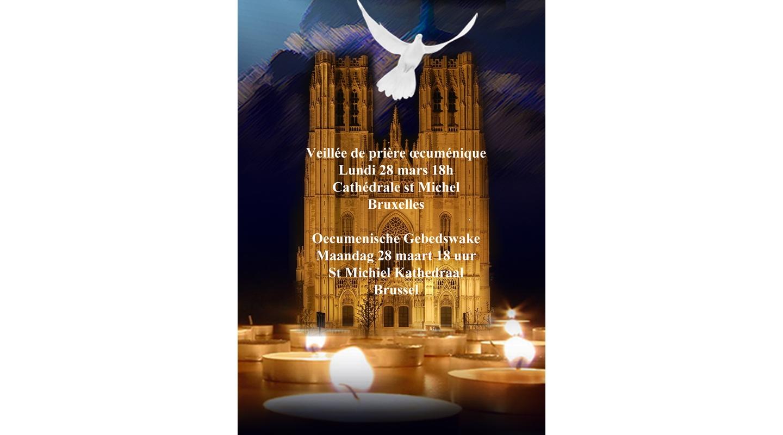 Vigilia de oración en la catedral de Bruselas