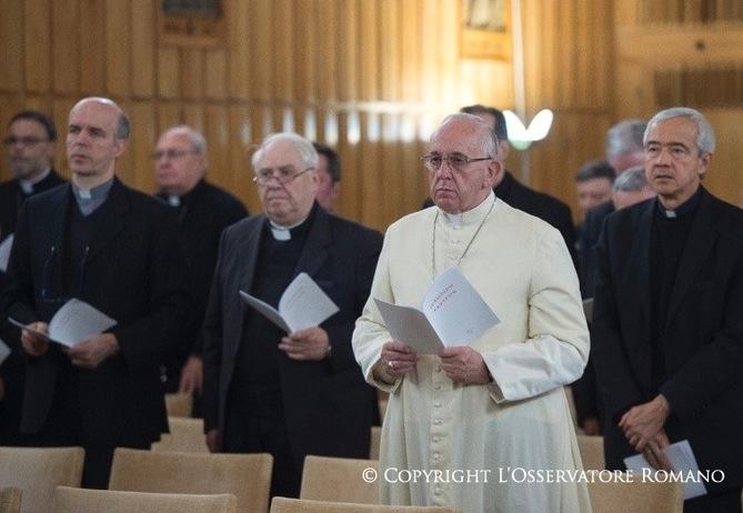 El Papa en el retiro espiritual